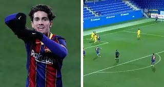 Alex Collado scores direct corner-kick goal as Barca B win 4-0