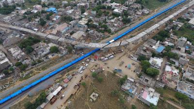 नीमकाथाना में रेलवे फाटक पर ओवरब्रिज का 95% काम पूरा, नए साल में शुरू होगा ट्रैफिक