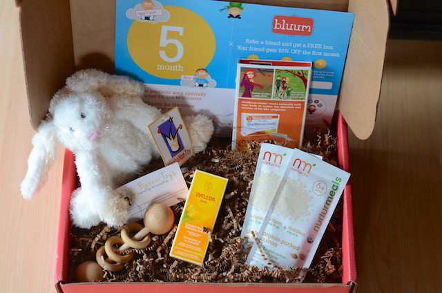 The 5 month oldu0027s box completely stuffed full! I love the variety and the quality of the items. Look at that bunny so adorable! & The Traveling Sisterhood: Bluum the Best Baby and Toddler ... Aboutintivar.Com