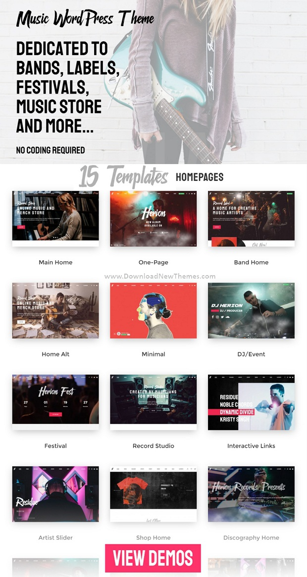 Best WordPress Theme for the Music Industry