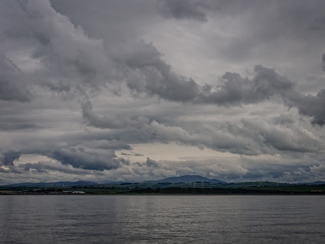 Photo of clouds over the Solway Firth