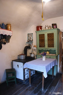 Arredi interni di un'abitazione all'Ecomuseo d'Alsazia