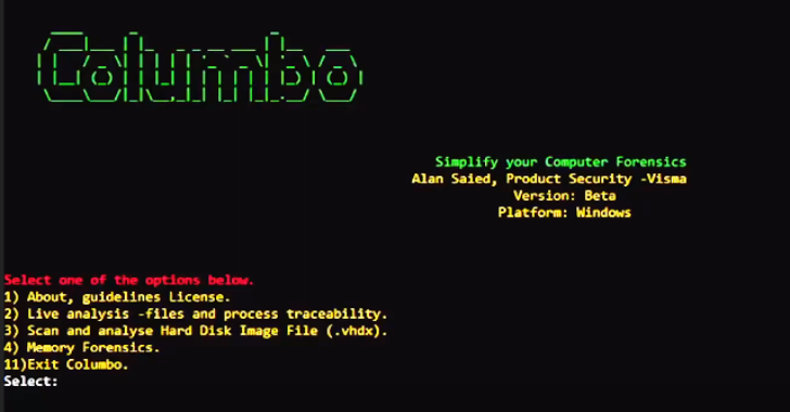 Columbo : A Computer Forensic Analysis Tool Used To Simplify & Identify Specific Patterns In Compromised Datasets