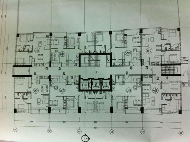 Mặt bằng căn hộ chung cư Duy Tân Tower dự kiến
