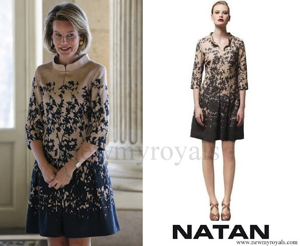 Queen Mathilde wore Natan Dress