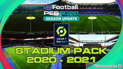 PES 2020 Ligue 1 Uber Eats Stadium Pack 2020/2021