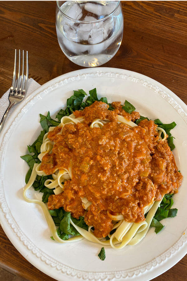 Quick and Easy Bolognese On A Plate