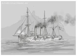 Boceto crucero Reina Mercedes 1