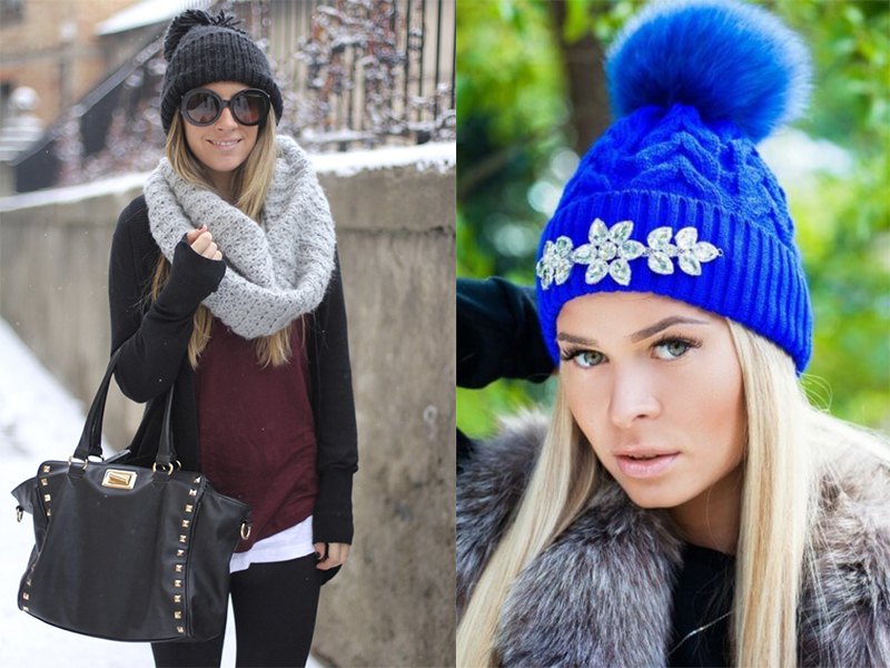 вязаные шапки 2017 новинки самые модные модели года Ladiesvenueru