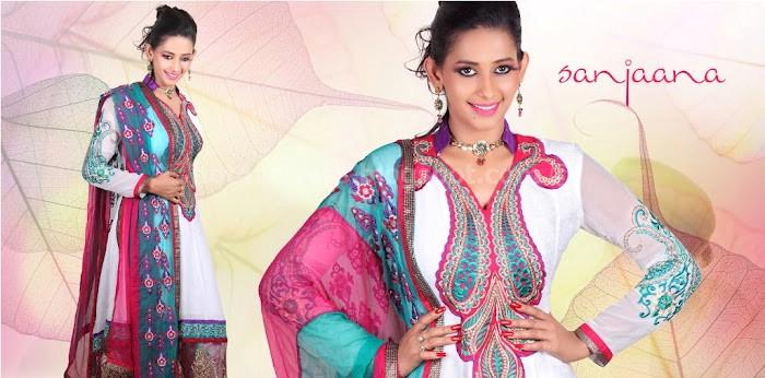 Sanjana latest saree poses