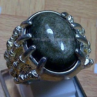 Cincin Batu Permata Bulu Monyet - ZP 1014