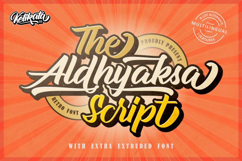 Aldhyaksa Font - Free Retro Bold Script Typeface