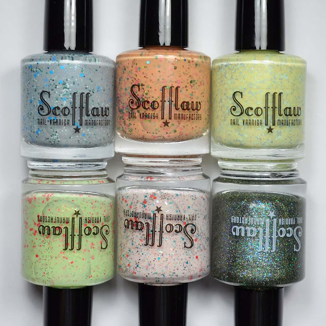 glitter crelly nail polish collection