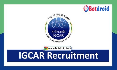 IGCAR Recruitment 2021, Apply online for IGCAR Job Vacancies in Kalpakam