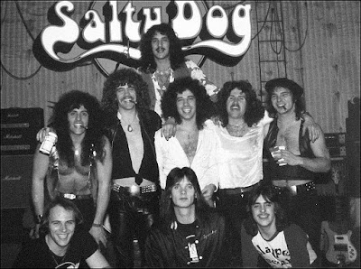 Salty Dog in 1977 and their road crew after a showcase for record companies at S. I. R. Studios in NYC