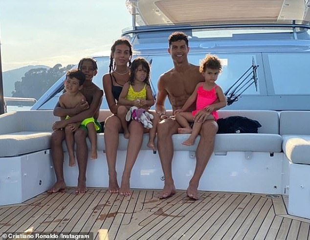 Cristiano Ronaldo & Georgina Rodriguez with his four children Cristiano Jr, 10, Mateo, 3, Alana Martina, 2 and Eva Maria 3.