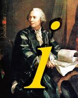 Leonhard Euler imaginando una forma original para designar a la raíz cuadrada de menos uno.