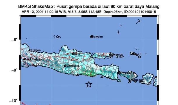 BMKG Catat Gempa Susulan Di Malang Terjadi Sebanyak 3 Kali