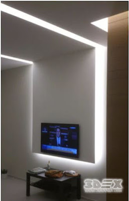 plasterboard wall designs with LED lighting