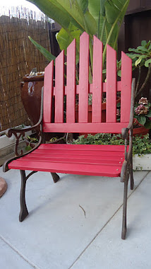 Repurposed Bench to Oversized Chair -SOLD