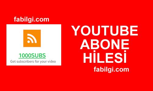 Youtube Abone Hile Uygulaması Bedava 1000SUBS Apk Mayıs 2021