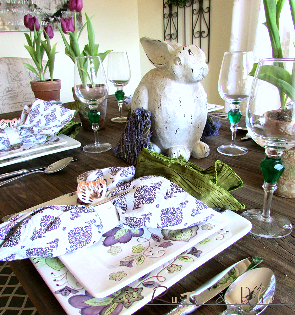 Pretty spring table setting rustic refined for Pretty html table
