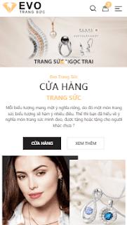 Giao diện blog bán hàng Trang sức nhẫn cưới