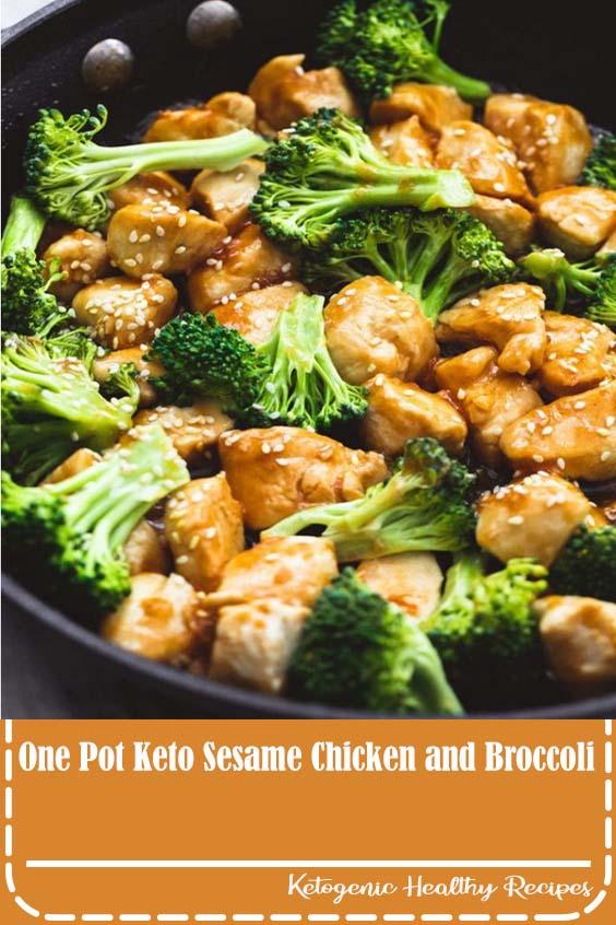 One Pot Keto Sesame Chicken and Broccoli