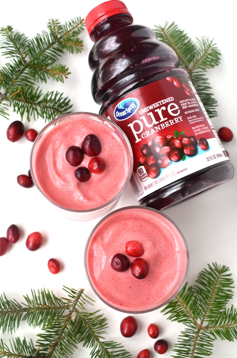 Ocean Spray cranberry smoothie