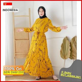 DMB1233 DRESS WANITA 1KG MUAT 4PCS KANAKA MOTIF ABSTRAK DRESS HOMEY DRESS GAMIS ROOT BARU 2021