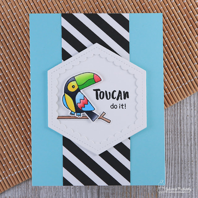 Toucan Do It Card by Juliana Michaels featuring Toucan Party Stamp Set by Newton's Nook Designs