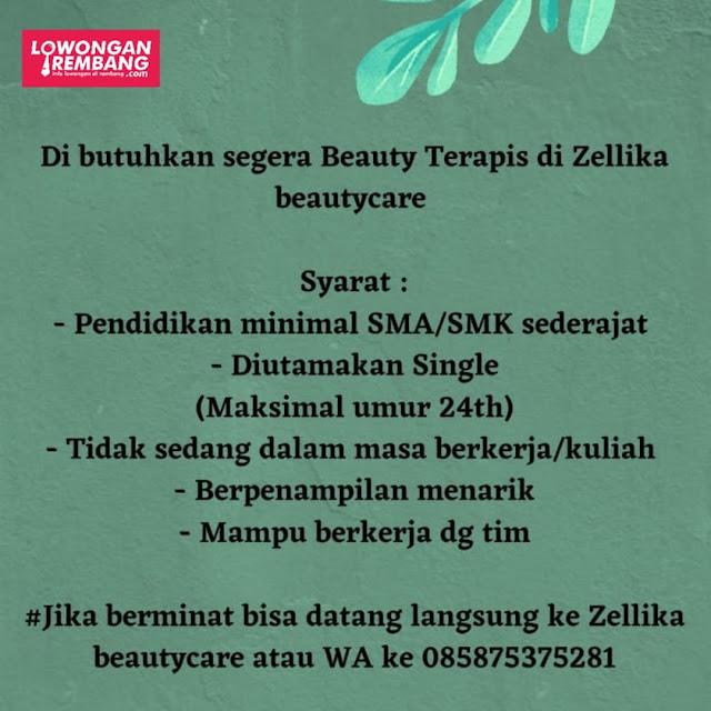 Lowongan Kerja Beauty Terapis Zellika Beautycare Rembang