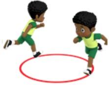 gambar animasi gerakan berlari melingkar