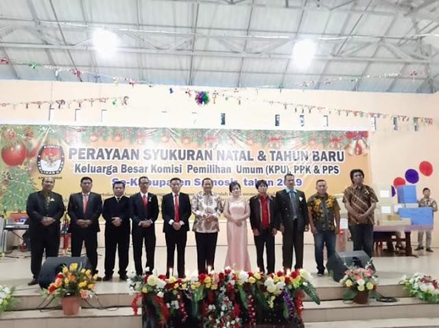 KPU Samosir Adakan Syukuran Natal dan Tahun Baru, Bupati Ajak Masyarakat Sukseskan Pemilu 2019