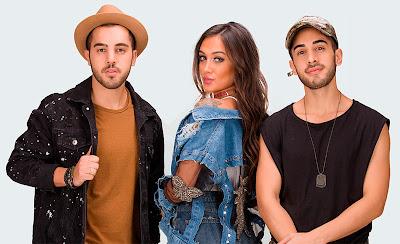 Os irmãos Rodrigo, Gabriela e Diogo formam a banda Melim - Divulgação