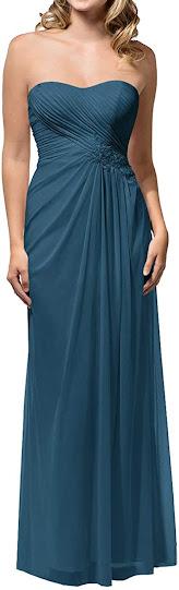 Teal Chiffon Bridesmaid Dresses