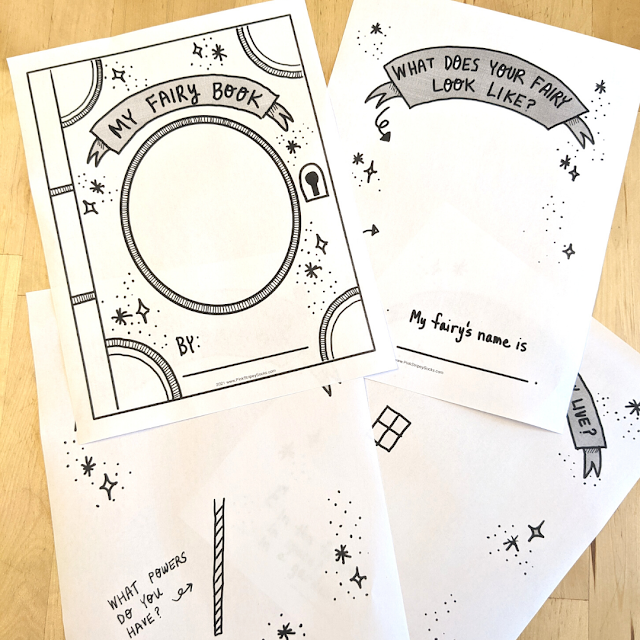 Free Fairy Drawing and Writing Prompt Book Printables