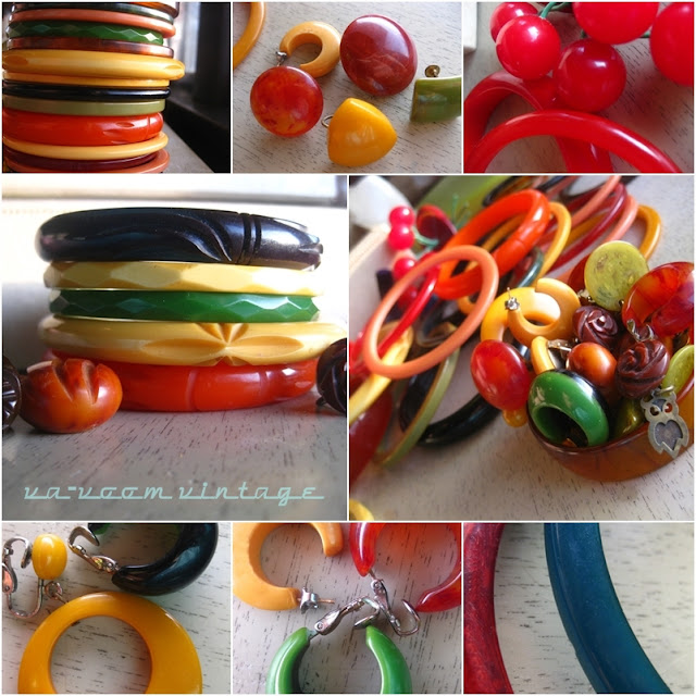 Va-Voom Vintage bakelite jewelry collection