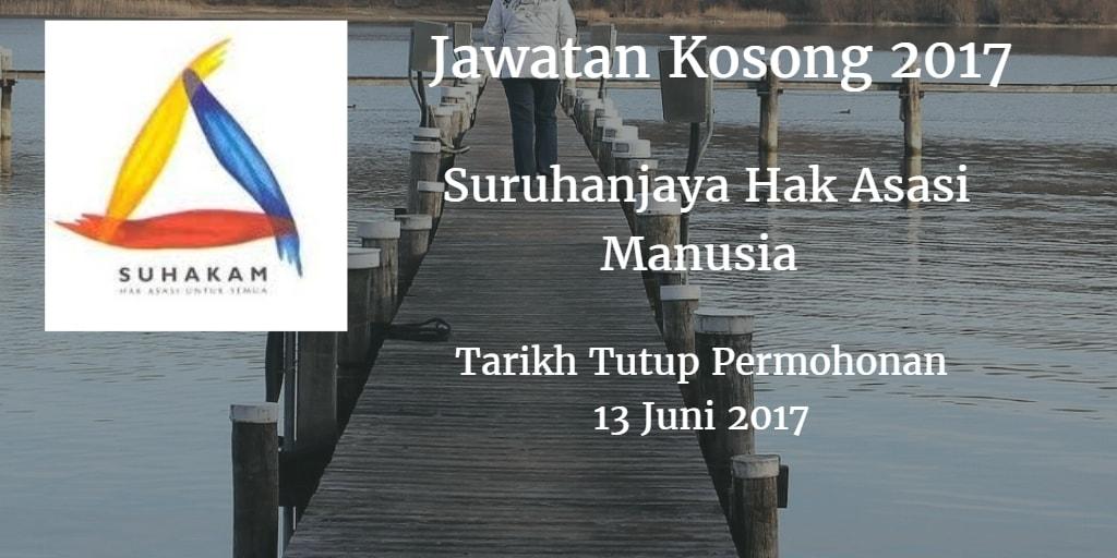 Jawatan Kosong SUHAKAM 13 Juni 2017