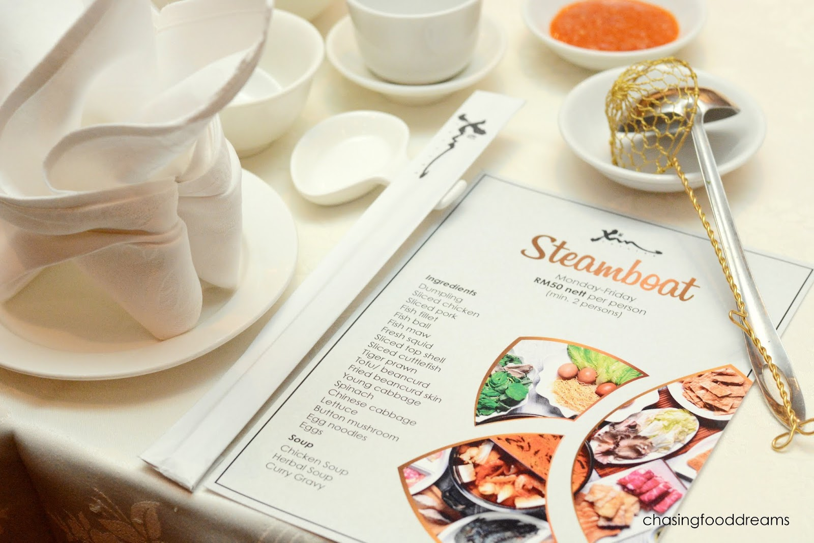 CHASING FOOD DREAMS: Steamboat Dinner @ Xin Cuisine, Concorde Hotel ...