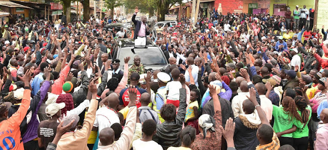 Deputy President William Ruto in a political tour. PHOTO | BNC