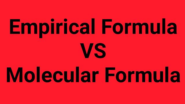Difference Between Empirical Formula and Molecular Formula