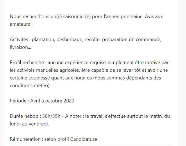عقود عمل موسمي في فرنسا من أفريل الى أكتوبر 2020 في مجال الفلاحة