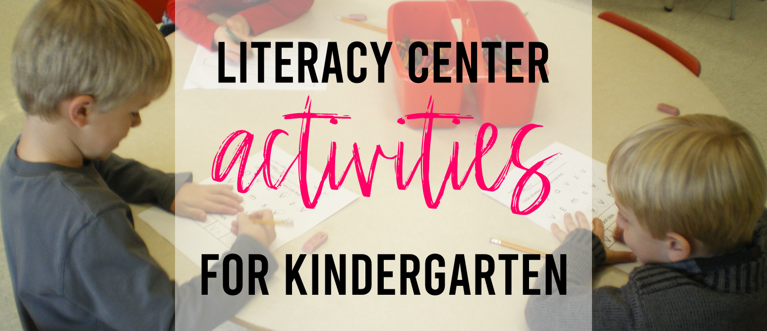 Alphabet and letter learning literacy center activities for Kindergarten