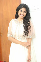 Megha Akash in beautiful Cream Transparent Anarkali Dress at Pre release function of Movie LIE ~ Celebrities Galleries 063.JPG