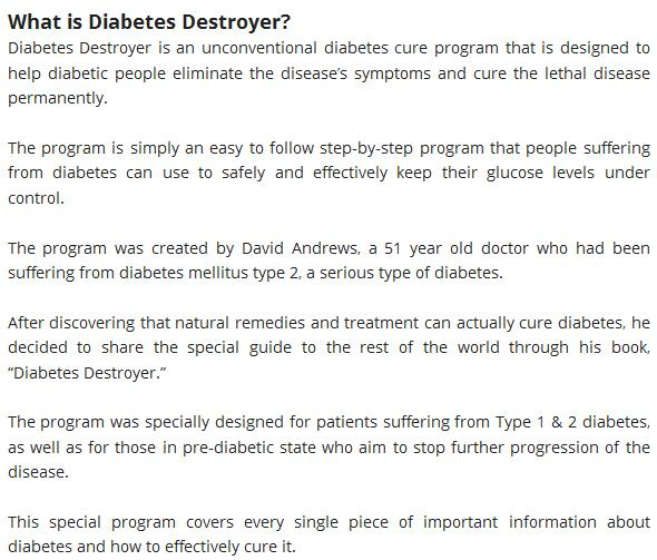 Diabetes destroyer system review david andrews ebook pdf download diabetes destroyer advanced program pdf download review diabetes destroyer david andrews does it is work fandeluxe Gallery