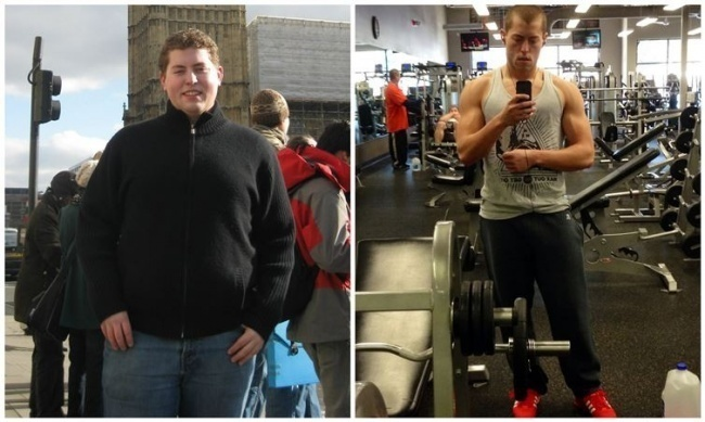 #7. That tall glass of sexiness on the right is the only thing that's huge, as in huge muscles. - 23 Inspirational Before/After Photos Of People Who Can Say 'I Did It.'