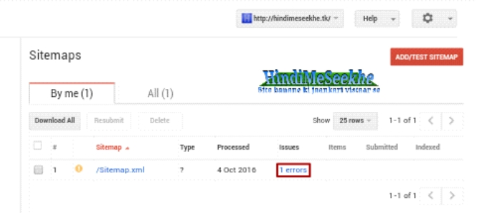 Google search console, sitemap error kaise fix kare. 3