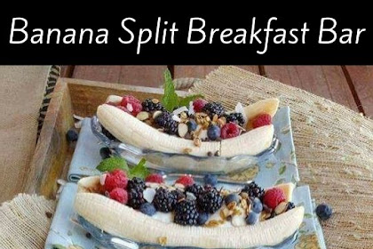 Banana Split Breakfast Bar