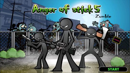 تحميل لعبة Anger of stick 5 : zombie MOD مهكرة للاندرويد
